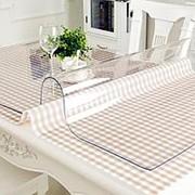Прозрачная скатерть мягкое (гибкое) стекло, размер 120*60 см. фото