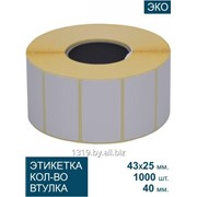 43Х25/40-1000 Самоклеящиеся термоэтикетки фото