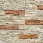 Декоративный облицовочный камень Лава кирпич бежевый, коричневый фото