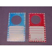 Ценник резаный бутылочный красный, синие фото