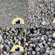 Щебень и песок декоративные из природного камня фото