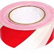 Лента оградительная ЛО-100, 75мм (красно-белая) фото