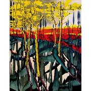 """Осень-весна"" Саша Бродский, Картина 120х100 холст, масло 2004г. фото"