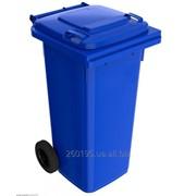 Пластиковый мусорный контейнер для ТБО 120л фото