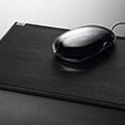 Коврик для мыши Sigel cintano, 220x5x200 мм, искусственная кожа, черный фото