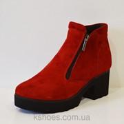Красные женские ботинки Selesta 4811 фото