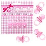 Фигурка декоративная Соска розовая 4см 4шт фото