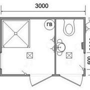 Вагончики-душевые, санитарные блоки, туалеты модульные. фото