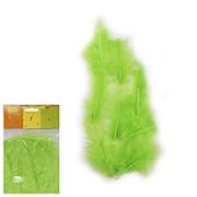 Перья декоративные зеленые 30шт фото