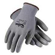 Нейлоновые перчатки с нитриловым покрытием,серые, оранжевые размер L фото