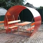 Беседка садовая Пион 4 м, поликарбонат 6 мм, цветной фото