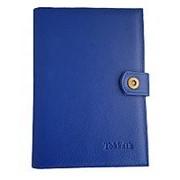 Ежедневник из натуральной кожи Классика люкс, светло-синий фото