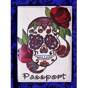 """Обложка на паспорт """"Череп"""" фото"""
