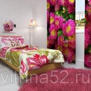 """Фотошторы """"Розовые цветы"""" фото"""