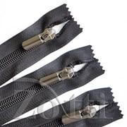 Молния пластиковая, черная, бегунок №71 - 55 см фото