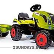 Трактор педальный Smoby XL с прицепом CLAAS фото