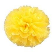 """Помпон бумажный средний """"Жёлтый"""", 6026 фото"""