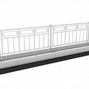 Удерживающее пешеходное мостовое ограждение УПО-М/Т10-1,1-2,0 фото
