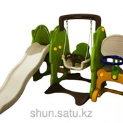 Детская площадка горка+качеля+колцо фото