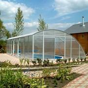 Сотовый поликарбонат 06 мм прозрачный Woggel, размер 2,1х6м фото
