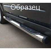 Пороги Chevrolet Niva 2003-2010 (вариант 2 труба с накладками 76 мм) фото
