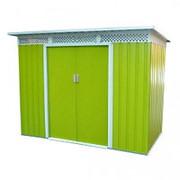 Хозблок Bella C (1,17х3,30х1,84м) светло-зеленый с бежевым кантом фото