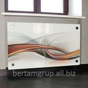 Стеклянный экран для радиатора фото