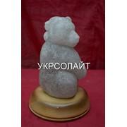 """Скульптуры из натуральной каменной соли """"Медведь с медвежонком """" фото"""