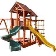 Игровая площадка SkyFort Spiral стандарт со спиральной горкой Playgarden фото