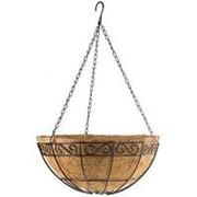 Сибртех Подвесное кашпо с орнаментом 30 см, с кокосовой корзиной Palisad фото