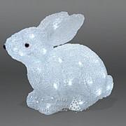 Заяц светящийся, 30 см, уличный, акрил, 32 холодных белых LED ламп (Kaemingk) фото