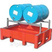 Контейнер для технических нужд для 2-х бочек на металлическом каркасе с решеткой фото