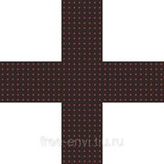 Светодиодный аптечный крест 520х520х32R двусторонний фото