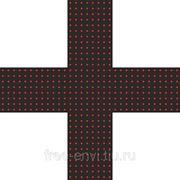 Светодиодный аптечный крест 520х520х32R односторонний фото
