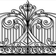 Ворота с ковкой на просвет №1 фото