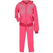 Модный спортивный костюм для девочки розового цвета 14 фото