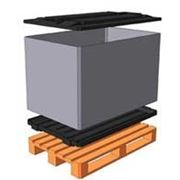 Контейнер полимерный на деревянном поддоне Н 700 1200*800*700 фото