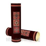 Тубус под бутылку подарочный декоративняй, Арабеска 9x35см фото