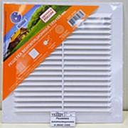 Решетка вентеляционная Омск 185*185 с сеткой люкс фото