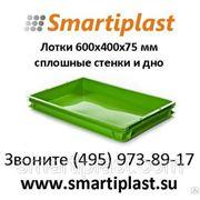 600х400х75 мм Лоток для хлебобулочных и кондитерских изделий smartiplast фото