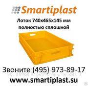 Лоток пластиковый хлебный 740х465х145 мм в т.ч. для кондитерских изделий фото