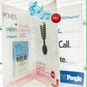 Аудио сопровождение рекламы в журналах. фото