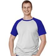 Мужская спортивная футболка StanPrint 30 Белый-Синий L/50 фото