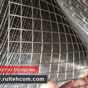 Сетка металлическая строительная, оцинкованная, простая, армирующая. Забор металлический. Plasa фото
