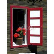 Однорамные деревянные и алюминиево-деревянные окна фото