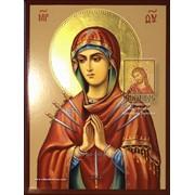 Умягчение злых сердец - рукописная икона Божией Матери в наличии фото