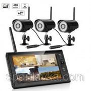 """Комплект беспроводного видеонаблюдения: видеорегистратор с 7"""" монитором и 3 видеокамеры KIT-HD73 300157 фото"""