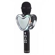 Беспроводной Bluetooth караоке микрофон Q5 Сердце (Черный) фото