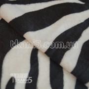 Ткань Мех звери ( зебра ) 2670 фото