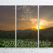 Модульна картина на полотні Ранок в горах. Північний Кавказ код КМ100150-102 фото
